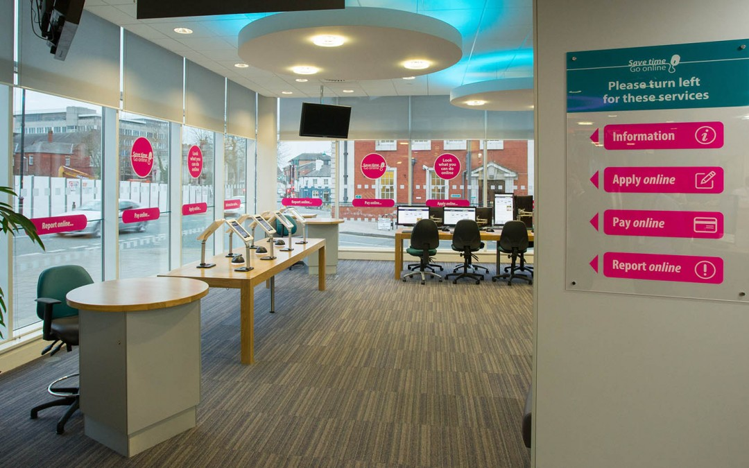 Transformation of our reception area encourages customers to self-serve