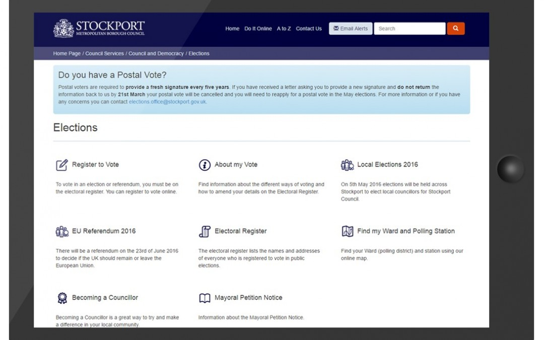 User journeys offer insights for new elections web pages