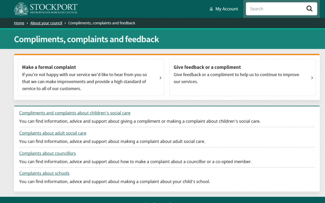 Redesign of the corporate complaints process